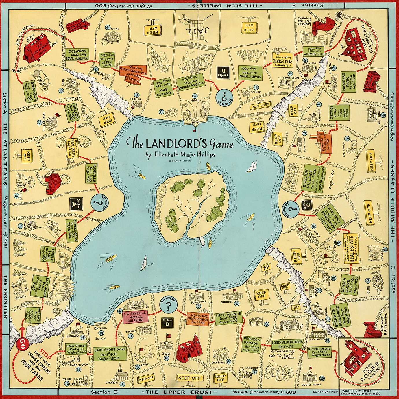 The version of the Landlord's Game released in 1939 by Parker Brothers.